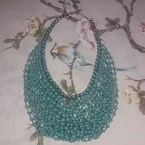 Turquoise draping necklace statement piece